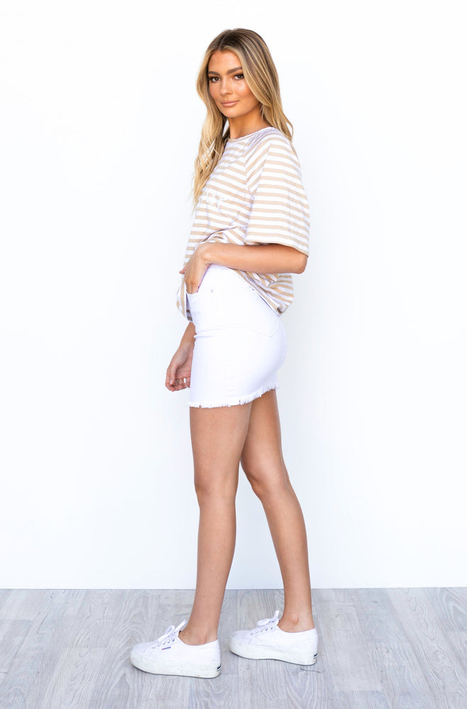 Bellini Denim Skirt - White