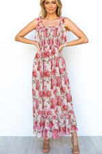Keely Maxi Dress - Pink Floral