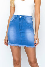 Bellini Denim Skirt - Blue