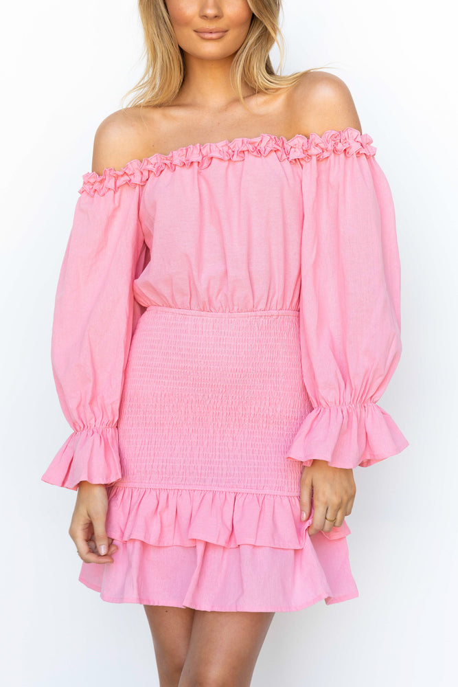 Thea Dress - Hot Pink