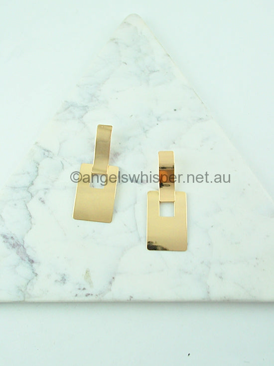 Minimalist Rectangle Earrings