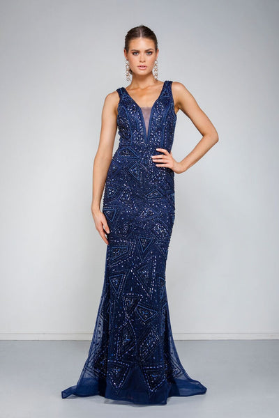 Laurent Gown - Navy by Solace The Label -Solace The Label