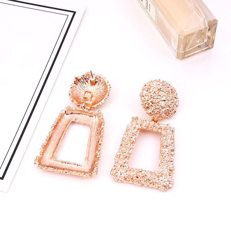 Janize Drop Earrings - Rose Gold