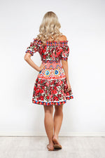 Wild Flower Off Shoulder Dress