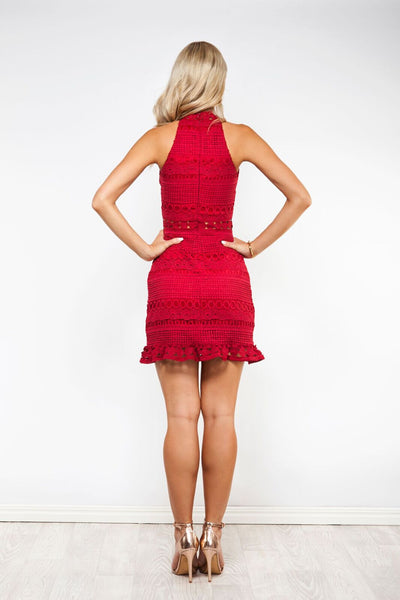 Rivers Lace Dress - Red -Two Sisters The Label
