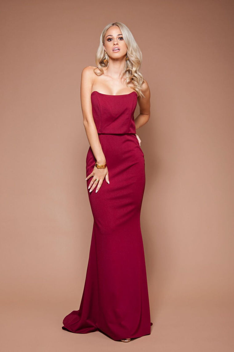 Jadior Gown - Burgundy by Solace The Label