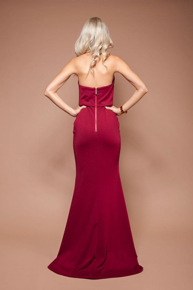 Jadior Gown - Burgundy by Solace The Label - STYLE STRUCK