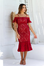 Erica Dress - Red