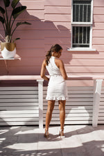 Rivers Lace  Dress - White - STYLE STRUCK