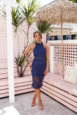Rivers Midi Dress - Navy - STYLE STRUCK