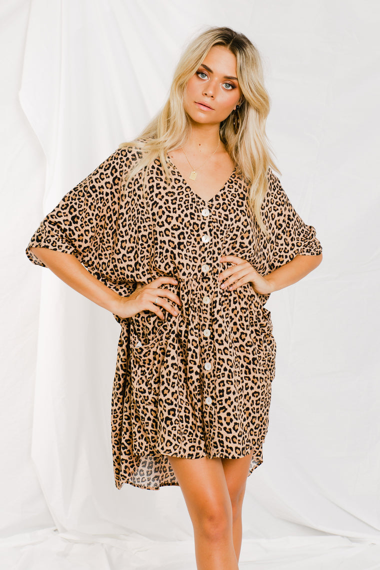 Neesh Dress - Leopard