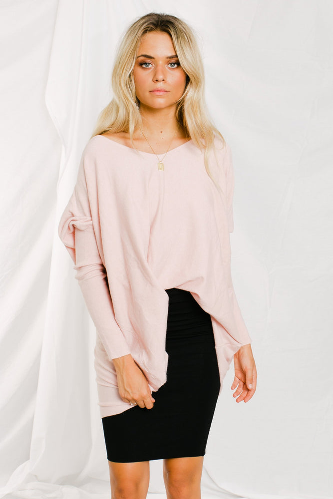 Nola Knit Top - Blush