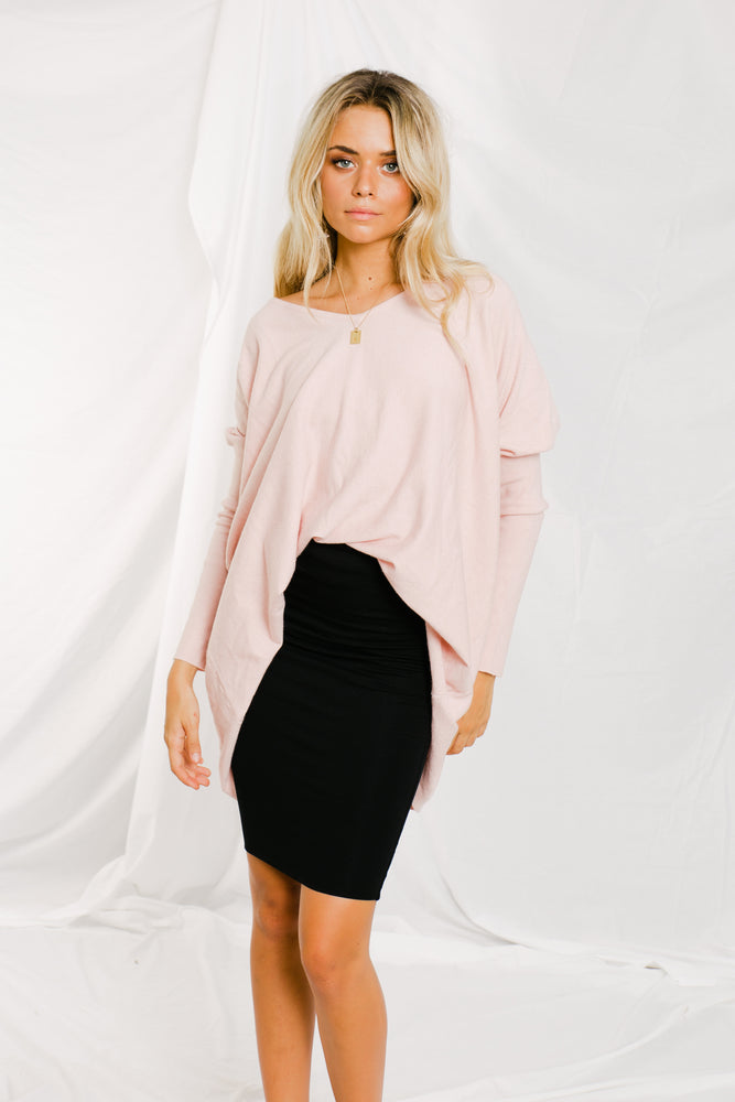 Nola Knit Top - Blush - STYLE STRUCK