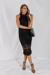 Rivers Midi Dress - Black