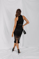 Rivers Midi Dress - Black - STYLE STRUCK
