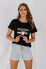 Nouveau Riche T Shirt - Black - STYLE STRUCK