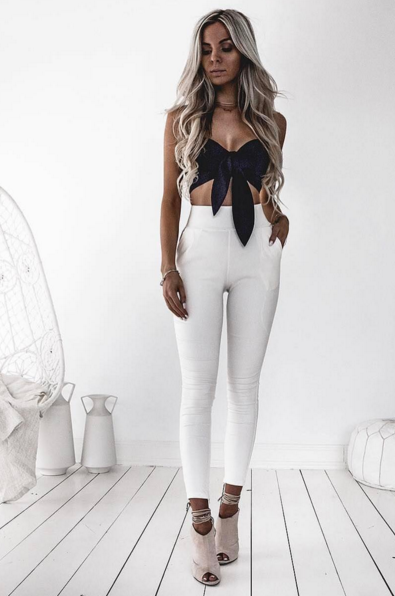 Back It Up Pants - White