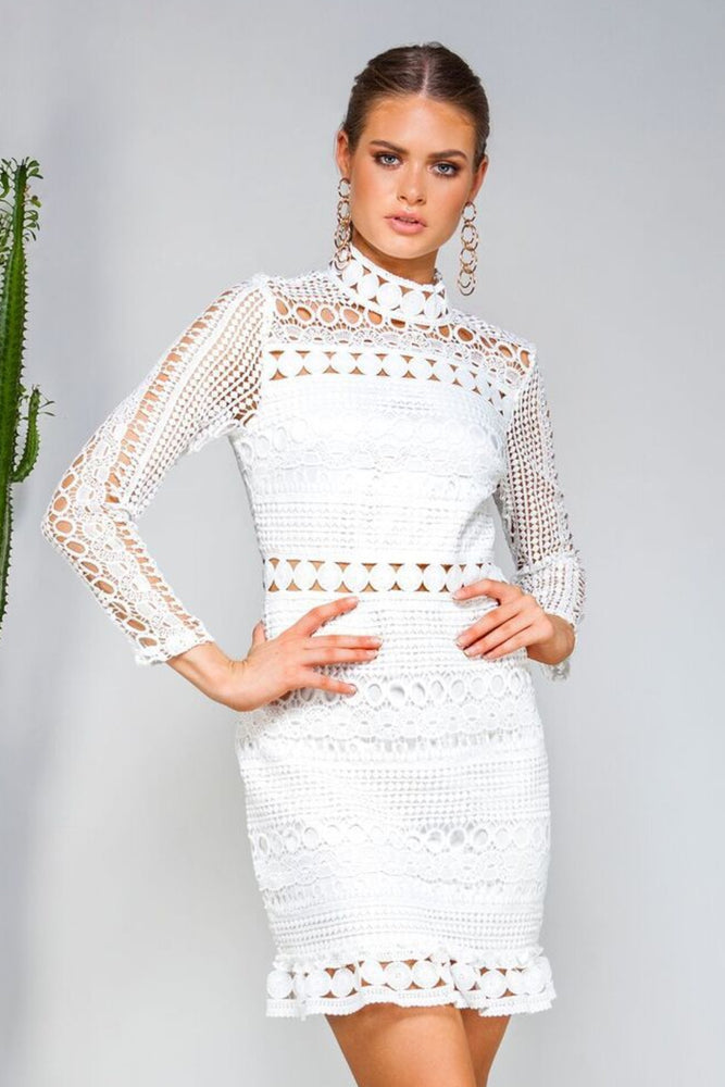 Riverdale Lace Dress - White - STYLE STRUCK