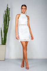 Rivers Lace  Dress - White -Two Sisters The Label