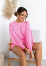 Immy Knit Set - Hot Pink