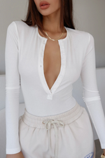 Knock Out Bodysuit - White