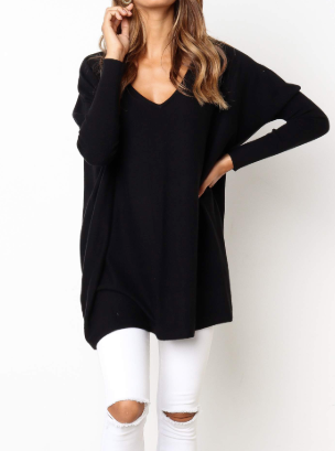 Nola Knit Top - Black