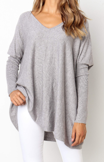 Nola Knit Top - Grey