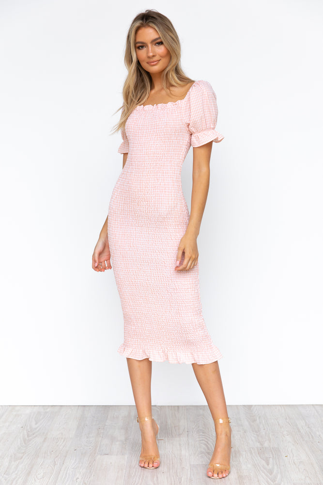 Edmiston Dress - Pink Gingham