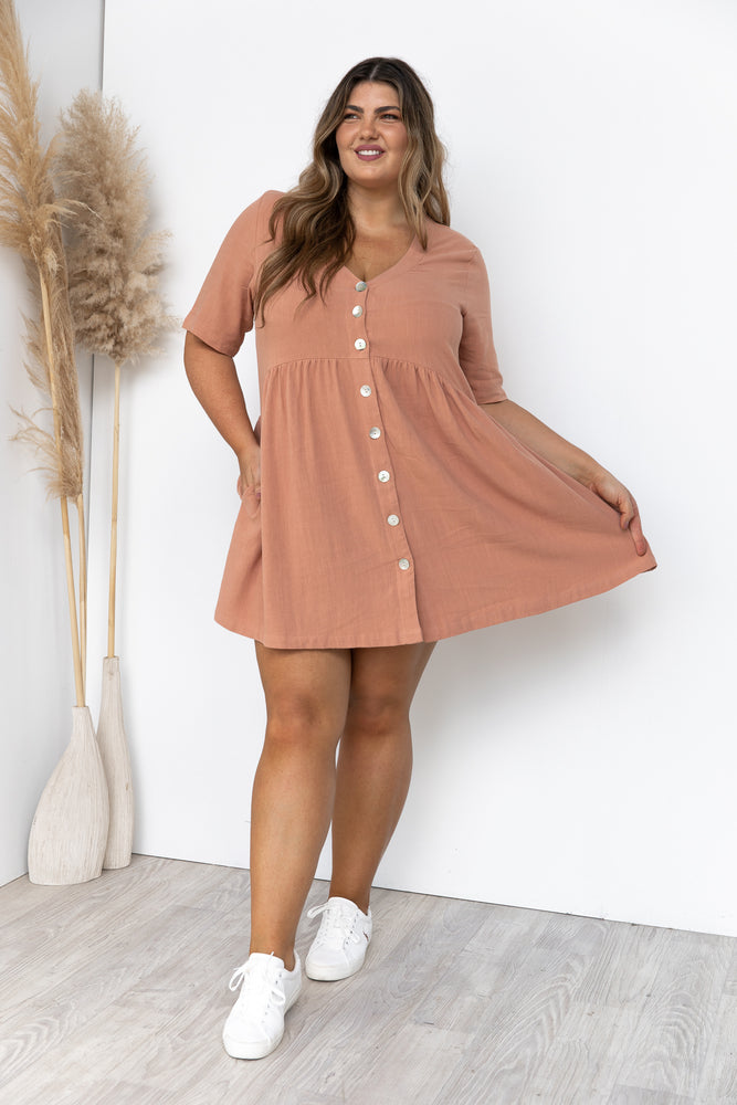 Nelly Dress - Clay