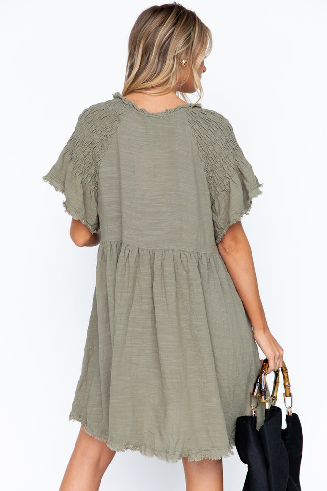 Byron Dress - Khaki
