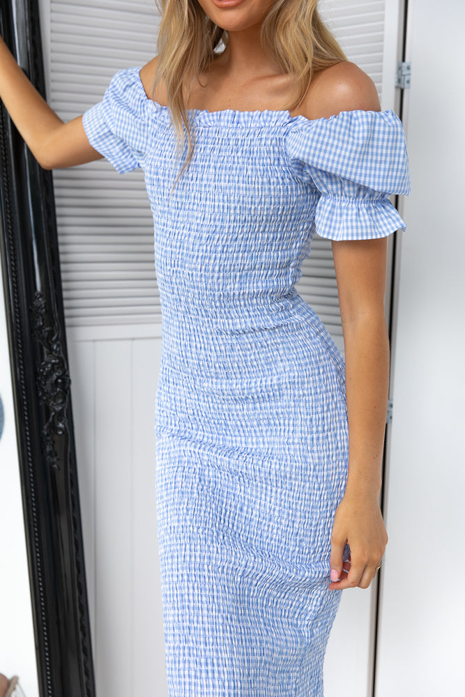 Edmiston Dress - Blue Gingham