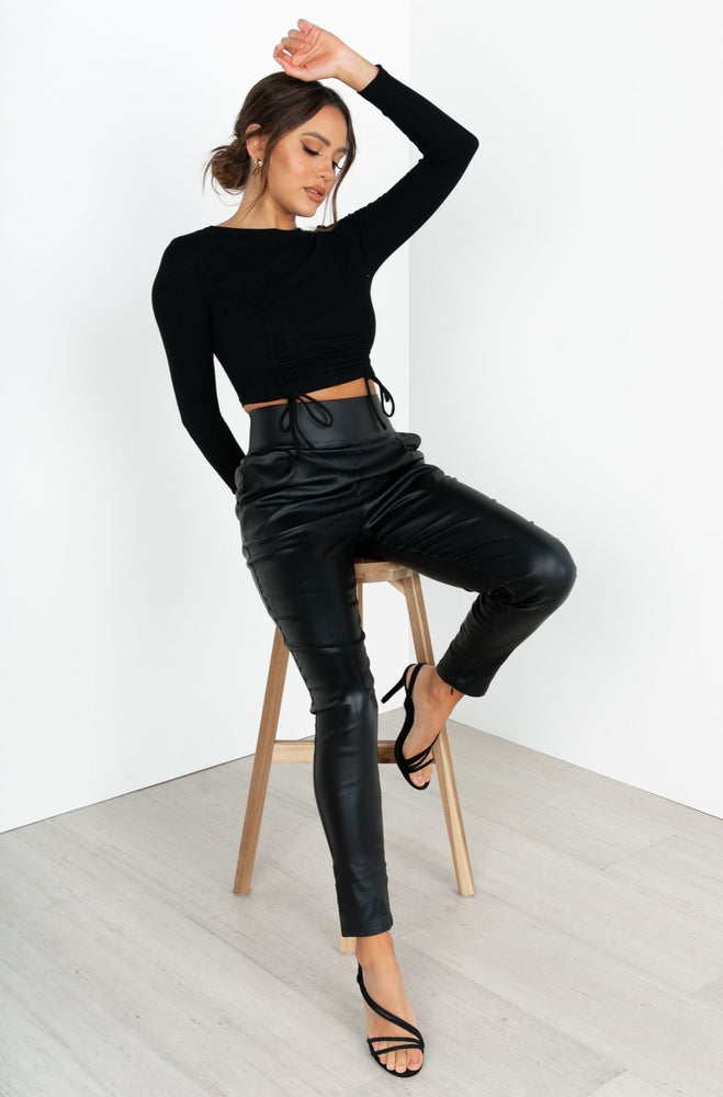 Back It Up Pants - Black - STYLE STRUCK