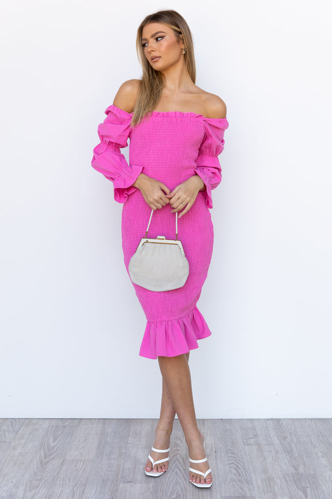 Myrah Dress - Hot Pink