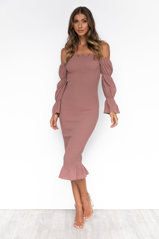 Myrah Dress - Mauve