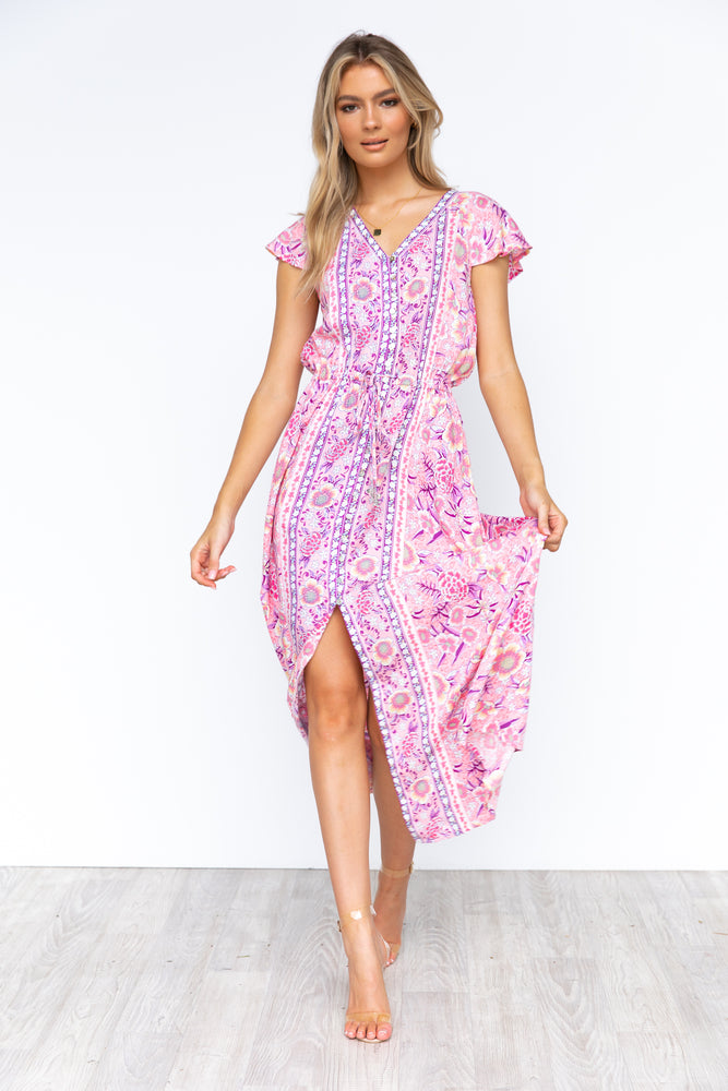 Froxy Maxi Dress - Pink