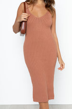Heidi Knit Dress - Rust