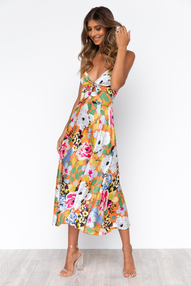Zazu Dress - Floral/Orange