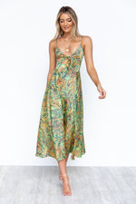 Zazu Dress - Green/Print
