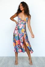 Zazu Dress - Floral/Blue