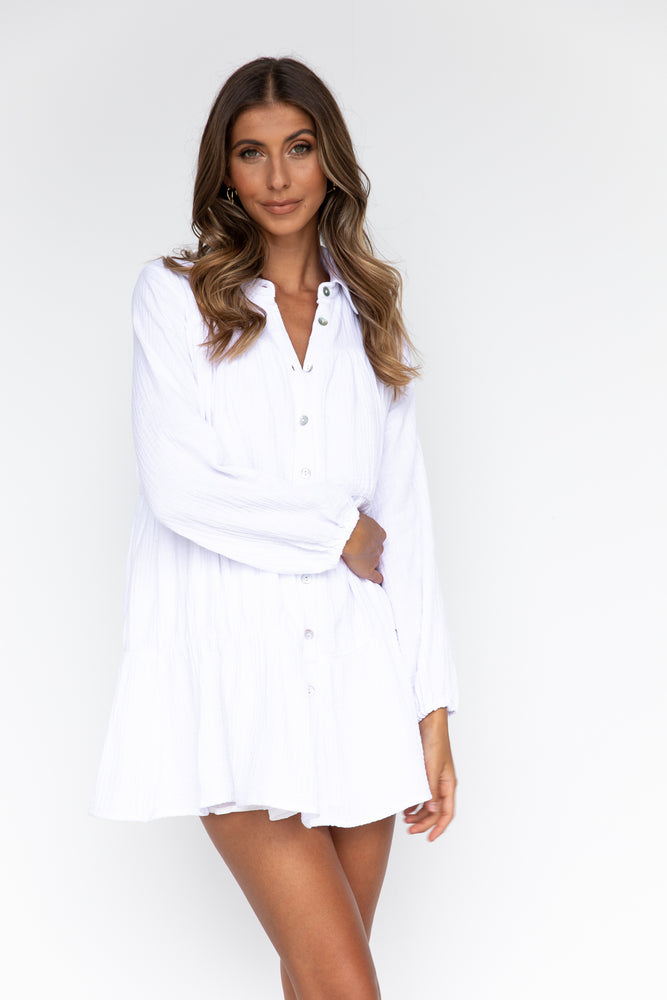 Esther Dress - White