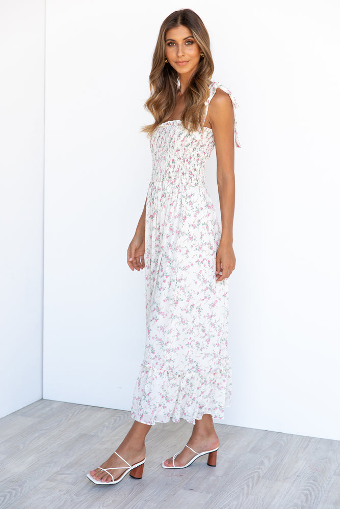 Keely Maxi Dress -White/Floral