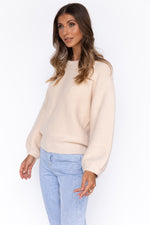Skye Knit Top - Beige