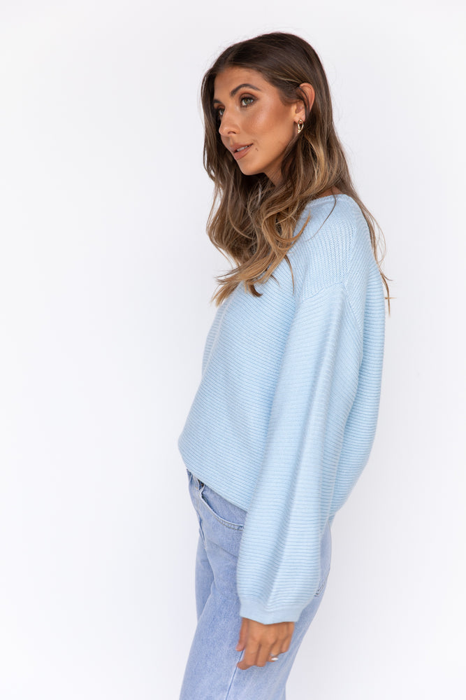 Skye Knit Top - Blue