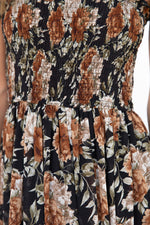 Keely Maxi Dress -Black Floral