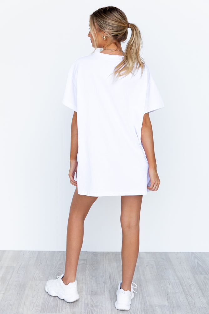 Marley Shirt Dress - White
