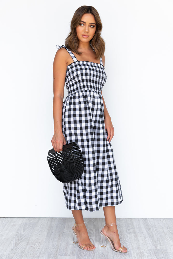 Layla Dress - Black Gingham