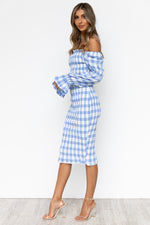 Soleil Dress - Blue/Gingham