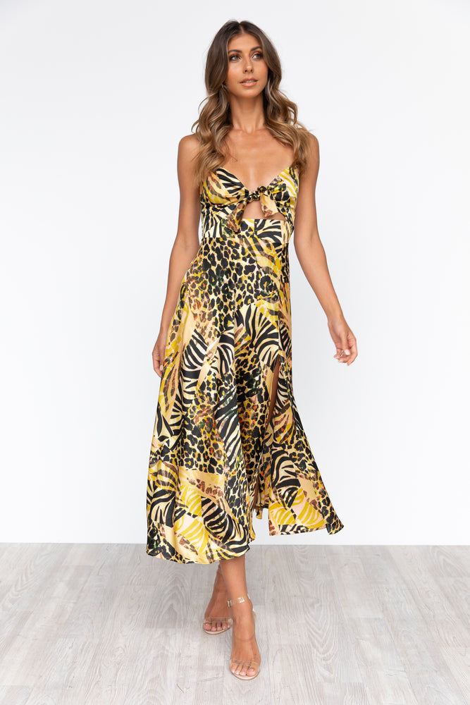 Zazu Dress - Animal/Yellow