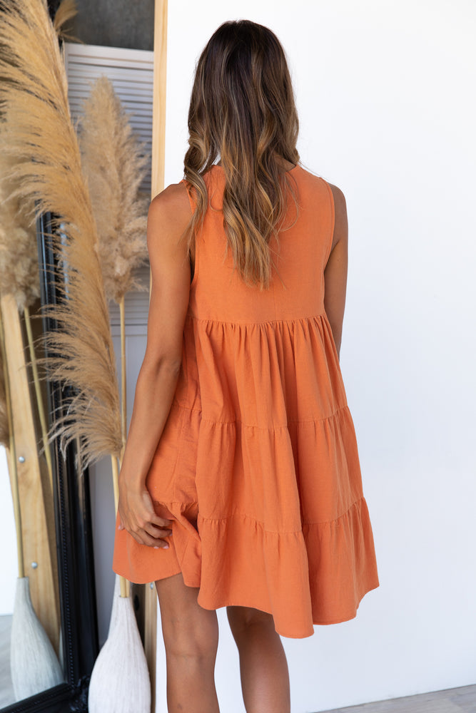 Lulu Dress - Terracotta