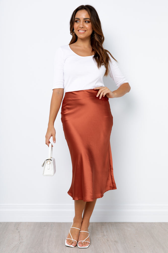 Sabine Skirt - Rust